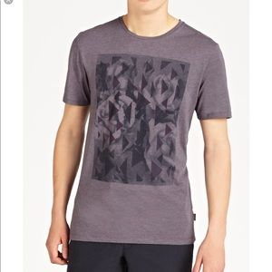 Ted Baker | Purple Flowpo Graphic Print T-shirt